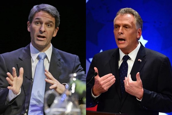 Tea Party favorite Ken Cuccinelli vs Democrat establishment favorite Terry McAuliffe