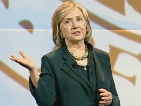 """Hillary to Heckler With Bull Horn: """"There Are Some People Who Miss"""