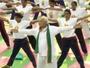 Indian PM Narendra Modi Leads Thousands In