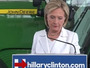 Hillary Clinton Delivers Statement About Gun Violence In Front Of A Big Green Tractor