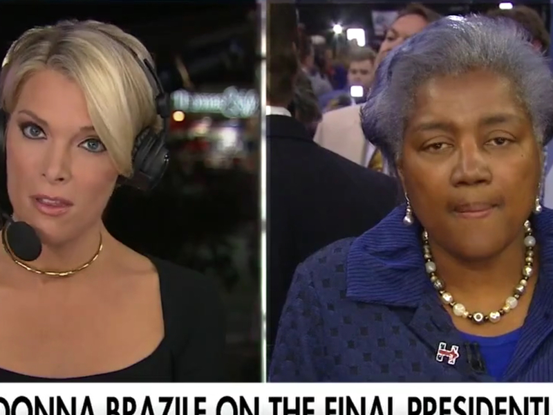 Image result for pictures of Megyn Kelly & Donna Brazile interview
