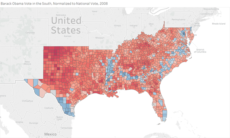 How Trump Won The South RealClearPolitics - 2008 us governors map