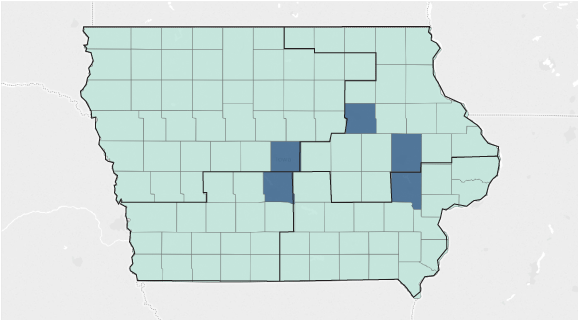 You Have A Map Where Even An Established Inbent Democrat Like Dave Loebsack Struggles Suddenly Republican Rod Blum S 2014 Win In The Formerly Democratic