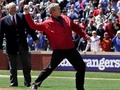 Bush Cheered During First Pitch At Rangers Game
